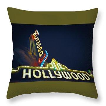 Hollywood Sign Throw Pillow
