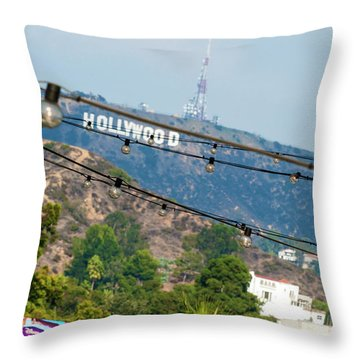 Throw Pillow featuring the photograph Hollywood Sign On The Hill 1 by Micah May
