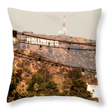 Throw Pillow featuring the photograph Hollywood Sign On The Hill 3 by Micah May