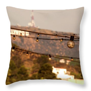 Throw Pillow featuring the photograph Hollywood Sign On The Hill 5 by Micah May