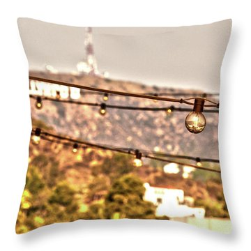 Throw Pillow featuring the photograph Hollywood Sign On The Hill 6 by Micah May