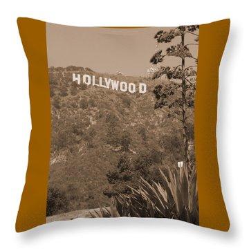Hollywood Signage Throw Pillow
