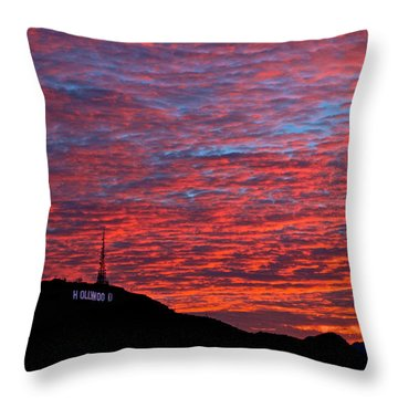 Hollywood Sunrise Throw Pillow