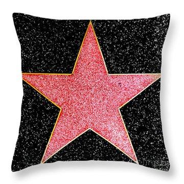 Hollywood Walk Of Fame Star Throw Pillow