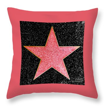 Hollywood Walk Of Fame Star Throw Pillow