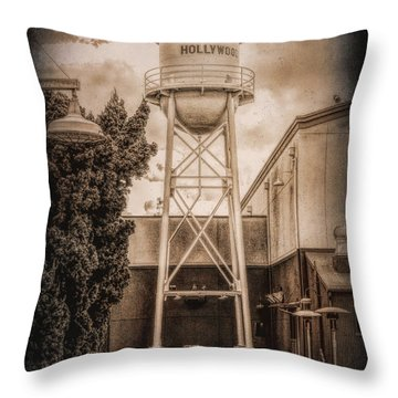 Hollywood Water Tower 2 Throw Pillow
