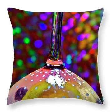 Holographic Fruit Drop Throw Pillow by Xn Tyler