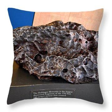 Holsinger Meteorite 001 Throw Pillow by George Bostian