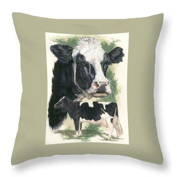 Holstein Throw Pillow by Barbara Keith