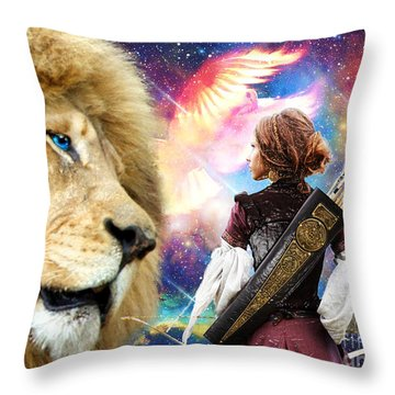 Throw Pillow featuring the digital art Holy Calling by Dolores Develde