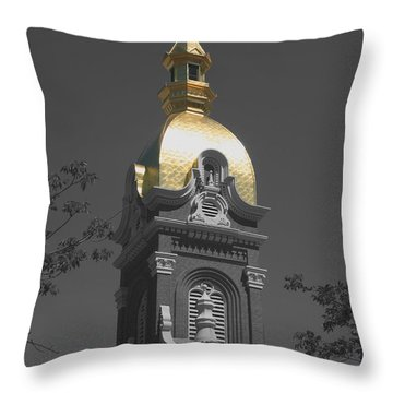 Holy Church Of The Immaculate Conception - Colorized Throw Pillow