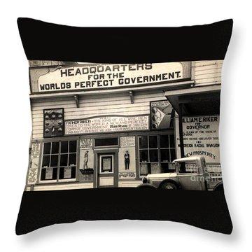 Holy City World Government Santa Clara County California 1938 Throw Pillow
