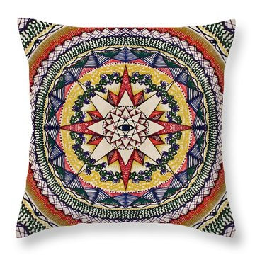 Throw Pillow featuring the painting Holy Cow Star by Kym Nicolas