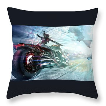 Holy Crap That Is Fast. Throw Pillow by Lawrence Christopher