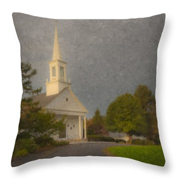 Holy Cross Parish Church Throw Pillow