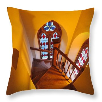 Holy Cross Staircase Throw Pillow