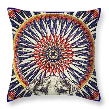 Throw Pillow featuring the painting Holy Dog by Kym Nicolas