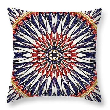 Throw Pillow featuring the painting Holy Dog Star by Kym Nicolas