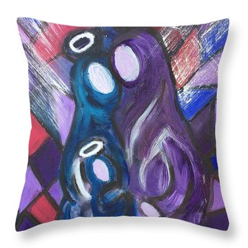 Holy Family At Christmas Throw Pillow