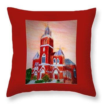 Holy Family Church Throw Pillow