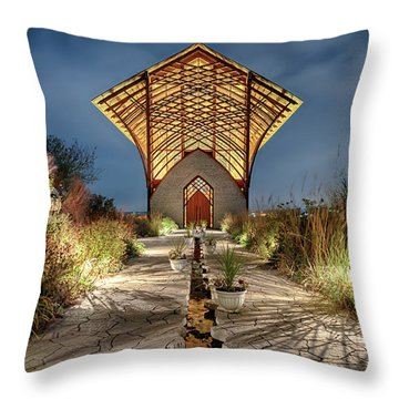 Holy Family Shrine Throw Pillow