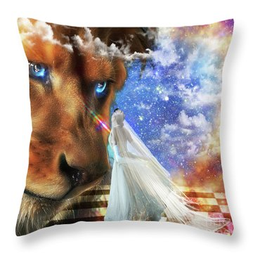 Divine Perspective Throw Pillow by Dolores Develde