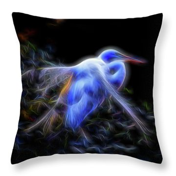 Holy Guardian Angel Throw Pillow by William Horden