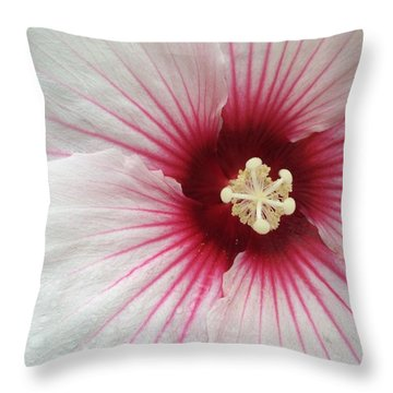 Holy Hibiscus Throw Pillow by Emerald GreenForest