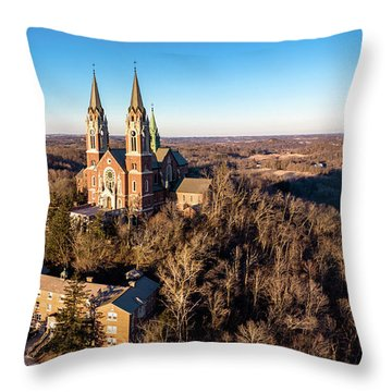 Throw Pillow featuring the photograph Holy Hill In January by Randy Scherkenbach