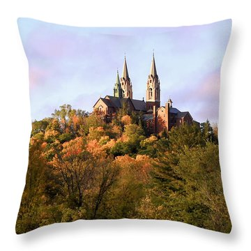 Holy Hill Basilica, National Shrine Of Mary Throw Pillow