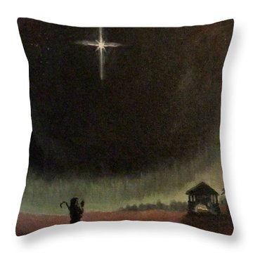Holy Night Throw Pillow