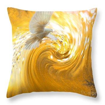 Holy Spirit Come Throw Pillow