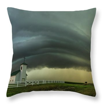 Throw Pillow featuring the photograph Holy Supercell  by Aaron J Groen