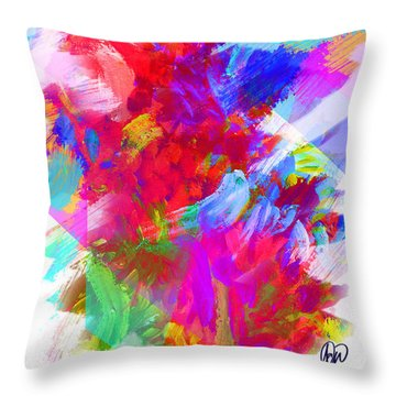 Holy Town Throw Pillow by AC Williams