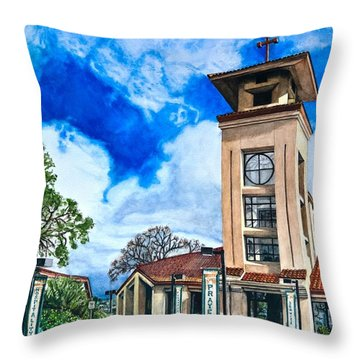 Holy Trinity Throw Pillow by Lance Gebhardt