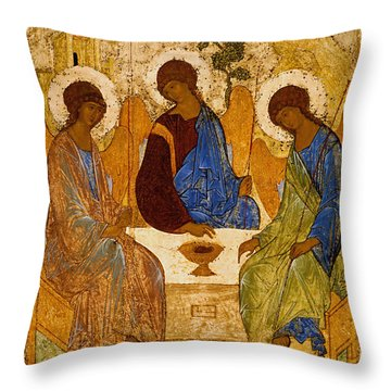 Holy Trinity. Troitsa Throw Pillow