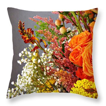 Throw Pillow featuring the photograph Holy Week Flowers 2017 2 by Sarah Loft