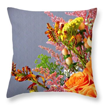 Throw Pillow featuring the photograph Holy Week Flowers 2017 3 by Sarah Loft