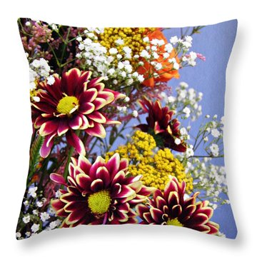 Throw Pillow featuring the photograph Holy Week Flowers 2017 4 by Sarah Loft