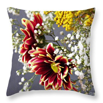 Throw Pillow featuring the photograph Holy Week Flowers 2017 5 by Sarah Loft