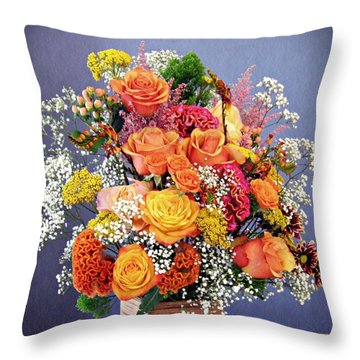 Throw Pillow featuring the photograph Holy Week Flowers 2017 by Sarah Loft