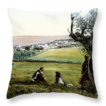 Holyland - Cana Of Galilee  Throw Pillow by Munir Alawi
