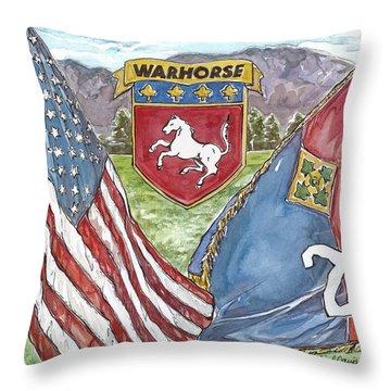 Homage To 2-4 Throw Pillow