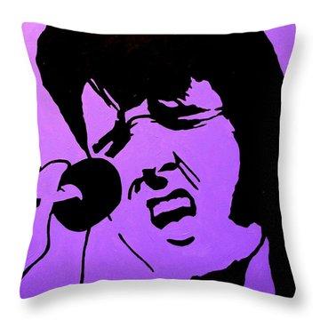 Homage To Elvis Throw Pillow by John  Nolan