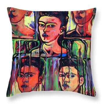 Homage To Frida Kahlo Throw Pillow