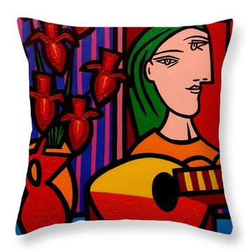 Homage To Picasso Throw Pillow