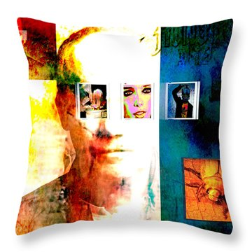 Homage To Richard Prince Throw Pillow by Ann Tracy