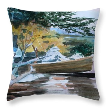 Homage To Winslow Homer Throw Pillow by Mindy Newman