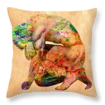 Hombre Triste Throw Pillow by Mark Ashkenazi
