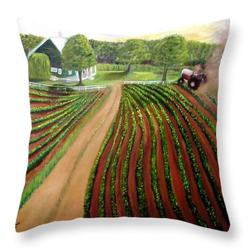 Home Again Throw Pillow by Tina Swindell